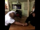 Arm wrestling with his father Вайн