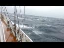 10-бальный шторм в северной атлантике. Ветер 50-60 узлов