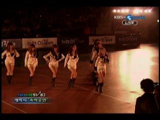 [PERF] SNSD - [091119] KBS Live NH Nonghyup 2009 - 2010 V-League - SNSD Cut