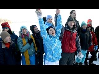 Радость в БП на студенческой смене под гимн России. Февраль 2013год