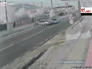 В Румынии произошло ДТП с участием двух автомобилей, пастуха и коровы. Погибли пастух, корова и один из водителей.