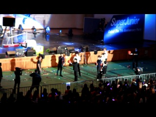 [121020] Super Junior Debut 7th Anniversary Party - басскетбол (2)