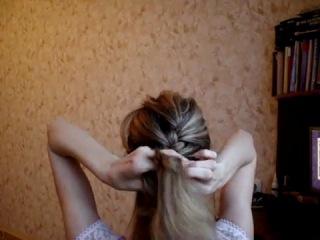 Французская коса - плетение косичек на короткие волосы