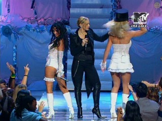 Madonna, Britney Spears & Christina Aguilera - Like A Virgin / Hollywood (@MTV Video Music Awards)