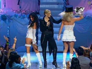Madonna, Britney Spears & Christina Aguilera - Like A Virgin / Hollywood (@MTV Video Music Awards)