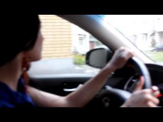 Ираида Дроздова за рулем