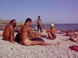 Коктебель, нудисткий пляж, лето - август 2008 год, музыка .