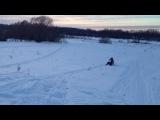 Прыжок на снегоходе, Ямаха Викинг.