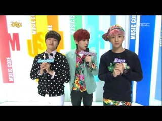 [CUT][130223]@ Opening Music Core Live by Special MCs #B1A4 Jinyoung, Sandeul & Baro.