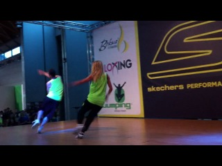 Aerodance with Katya Khodaeva and Damien Bleger , RIMINIWELLNESS'13