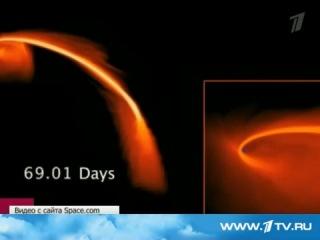 черная дыра пожирает звезду в одной из галактик