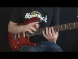 Fusion Licks Guitar Lesson #1 Combining Tapping + String Skipping by Martin Miller