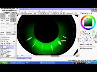 Вот как я рисую глаза в Paint Tool SAI