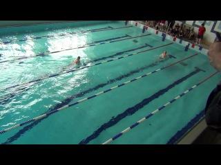 сильнейший заплыв брасс 100 м юноши 2002 г. 4 этап Первенства Новосибирска по плаванию  им. Лякишева