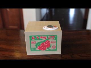 Забавная Японская игрушка-Котёнок Coin(монета) в Банк.