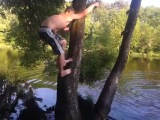 Прикол про прыжки с тарзанки