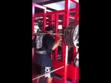 Dennis James Squates with 5 Plates - 9 Weeks Out from Masters Olympia 2012