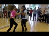 Dadinho Jefferson & Oxana Kononova - Men Style workshop. Zouk RnB. Final demo