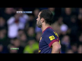 Эвер Банега видео гол. Валенсия - Барселона. Чемпионат Испании по футболу 22 тур. Footballer.name