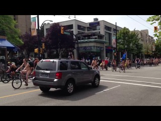 Vancouver nudists on bikes