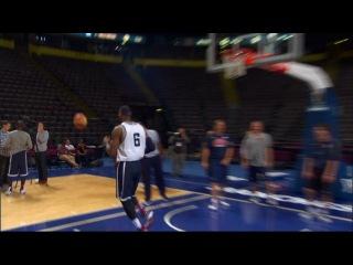 LeBron James на тренировке перед игрой!