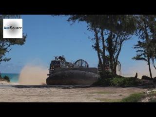 U.S. Marines LCAC Hovercraft Hawaii Beach Landing