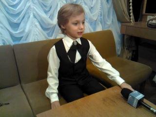 Интервью с восьмилетним ташкентским дирижером Эдуардом Юденичем
