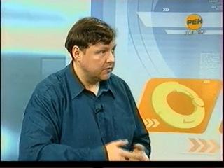 Алексей Акиндинов. Прямой эфир в студии Рен ТВ Край Рязанский. 25 марта 2010г.
