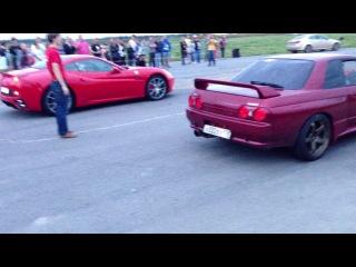 Ferrari California  VS Nissan Skyline GT-R R32