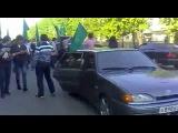 Адыги в день Черкесского флага (в Нальчике) 25.04.2012