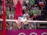 Олимпиада 2012.Спортивная гимнастика. Женщины. Разновысокие брусья. Финал. Выступление Алии Мустафиной