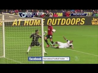 АПЛ 2013-14 Суонси - Манчестер Юнайтед (1 - 4) Обзор матча