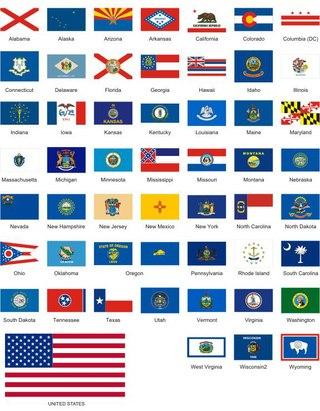 флаги штатов сша