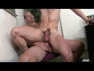 Vk.com/sbworld | bigdicksatschool | under the desk fun (girth brooks & tyler sweet) | hd | 2012