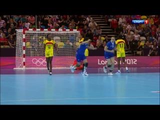 Олимпийские Игры 2012. Гандбол, Женщины. 1 тур, группа А. Россия - Ангола
