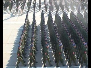 прилет с парада офицеров и курсантов ВУНЦ ВВС ВВА 2013 10 мая