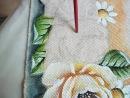 Pintura em tecido Rosas parte 2