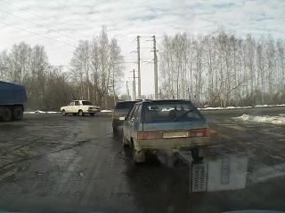 Видео ДТП. Бойня ВАЗов в Пензе.