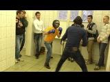 Чеченец таеквондист против боксера в хоккейной маске