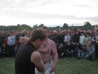 Троица 3 кулачные бои на лугу 2012 г