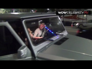 EXCLUSIVE Hilary Duff leaving The Jonas Brothers concert at Pantages Theater
