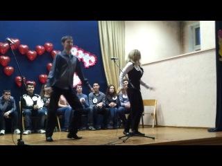 отжигательный танец во второй школе!