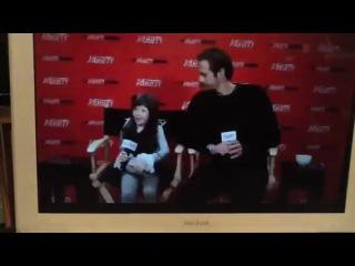 Alexander Skarsgard & Onata Aprile talk about What Maisie K