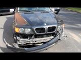 Автомобиль BMW X5 въехал в фургон Peugeot на юге Москвы