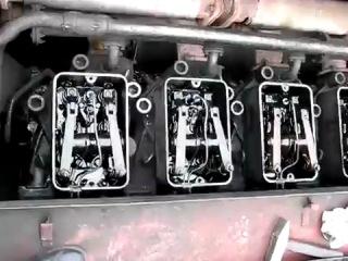 работа клапанных крышек K6S310DR тепловоза ЧМЭ3