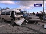 16.10.2012 - Крупное ДТП в Хомутово: 2 человека погибли, 10 пострадали