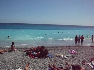 Франция ,Пляж Ница 15 июня 2012