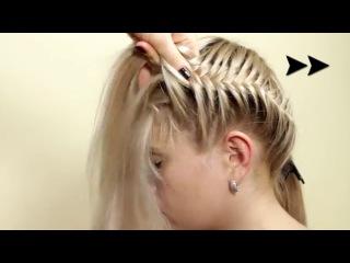Прическа из косичек Корзинка. Hairstyle of braids