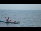 В море на каяке
