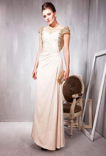 Выпускное платье ,с v-образным вырезом горловины ,сатин,56856.